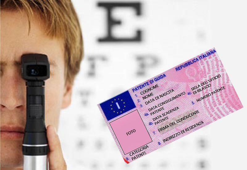 Visita medica per rinnovo patente: esame del campo visivo